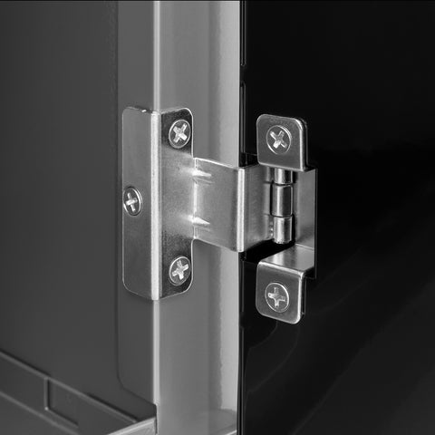 Black Diamond Plate Doors with Stainless Steel Top / None