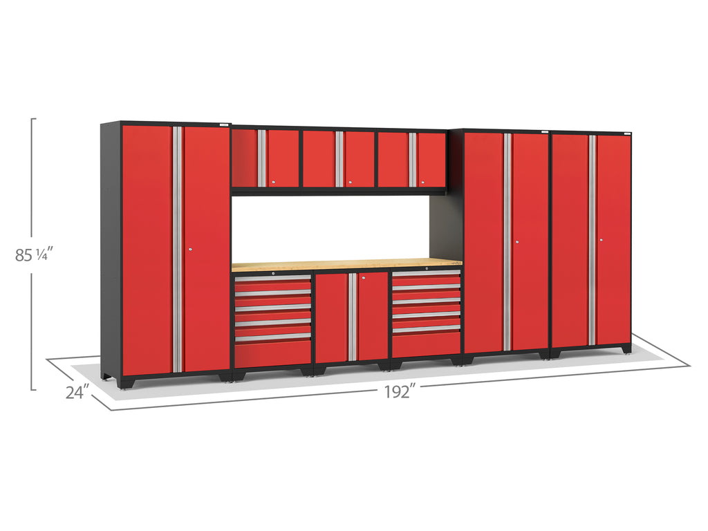 Red Doors with Bamboo Top / LED Light Only
