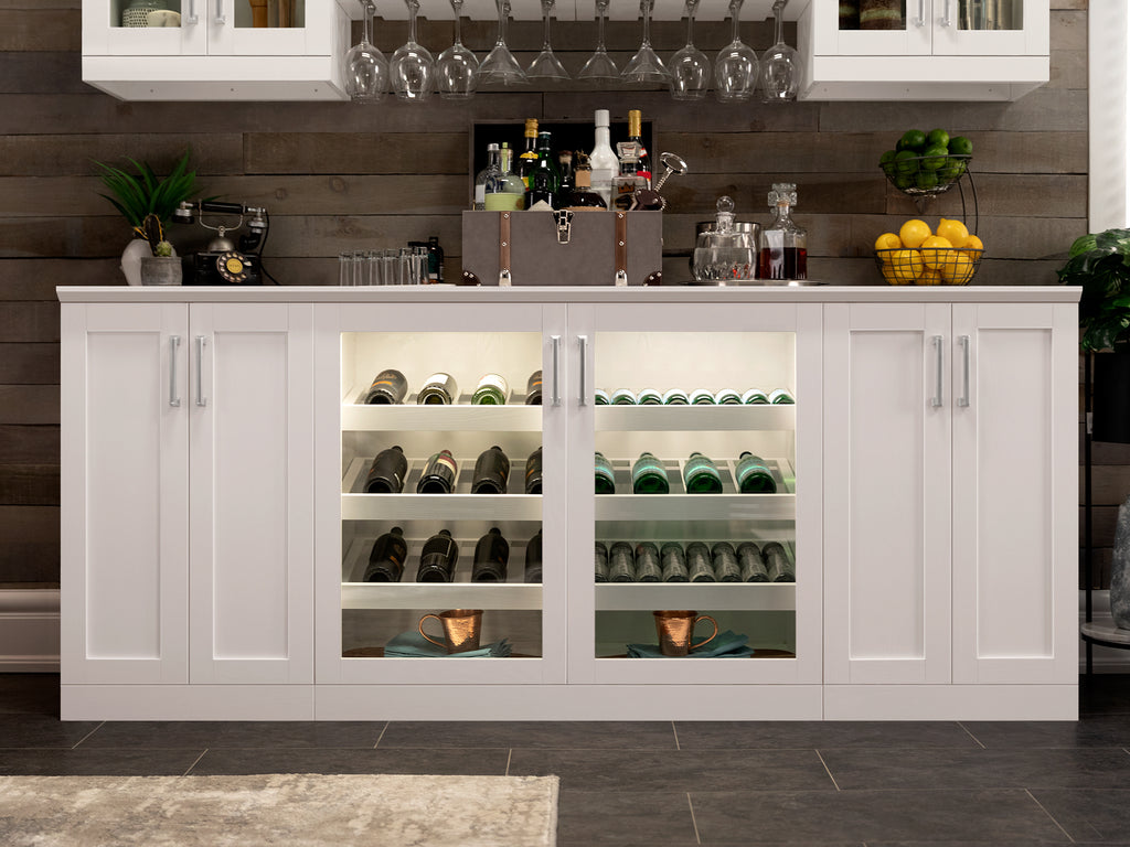Home Bar Double Display Cabinet - 42\