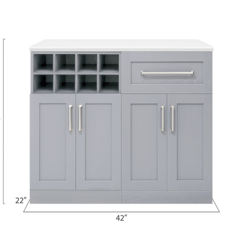 Home Bar 3 Piece Cabinet Set - 21""