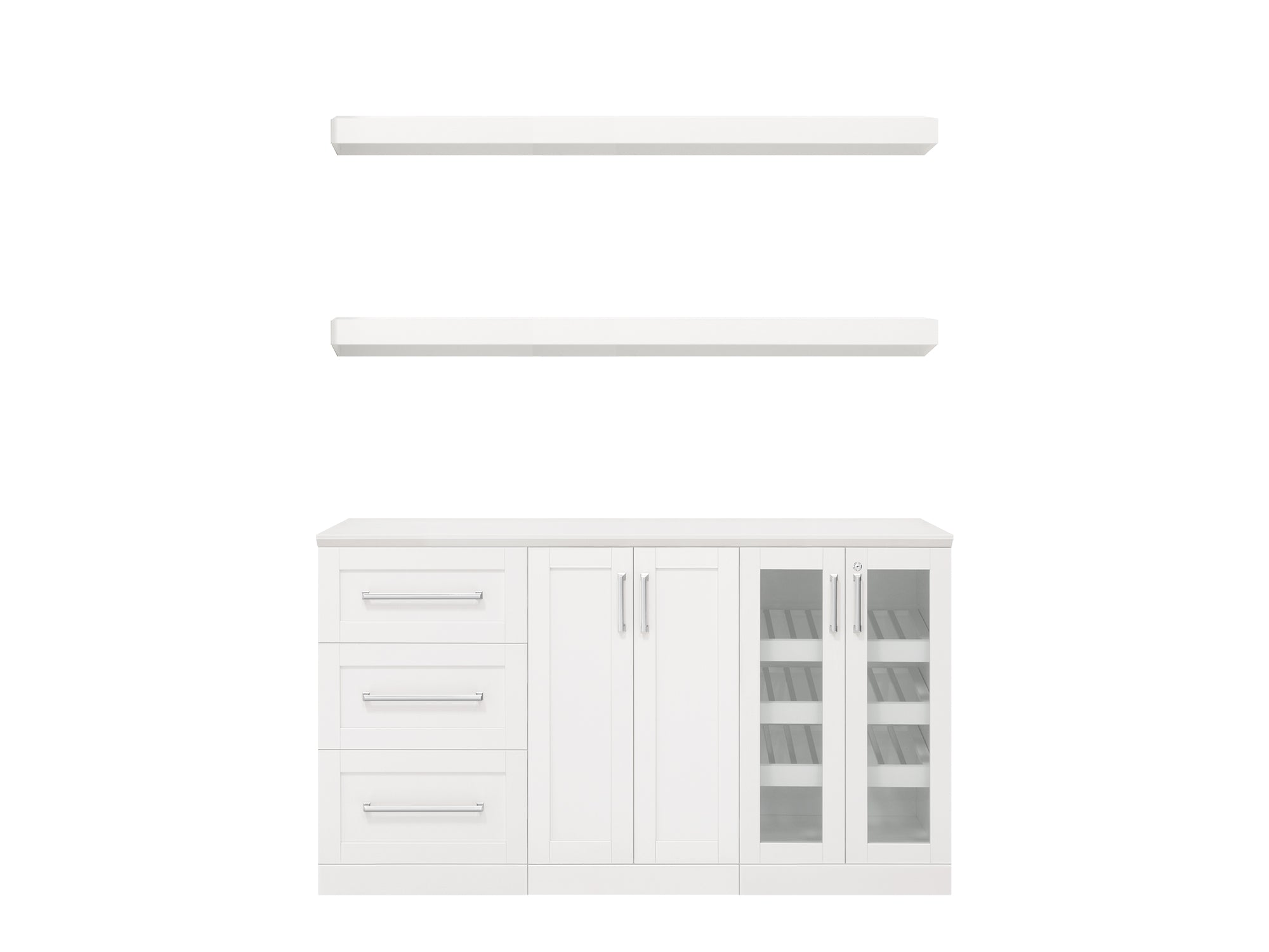 Home Bar 6 Piece Cabinet Set - 21""