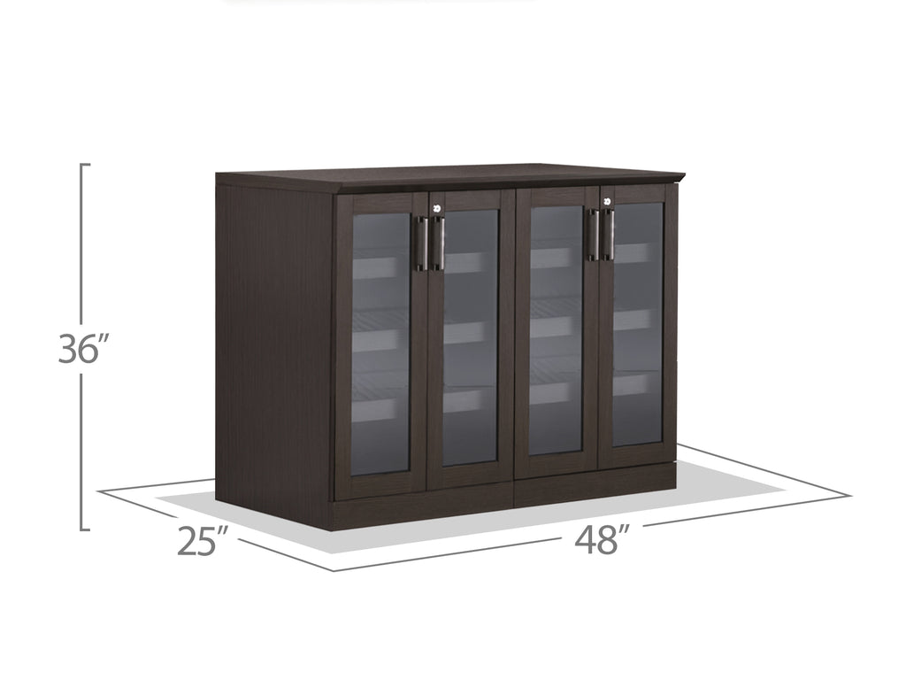 Home Bar 3 Piece Cabinet Set - 24""