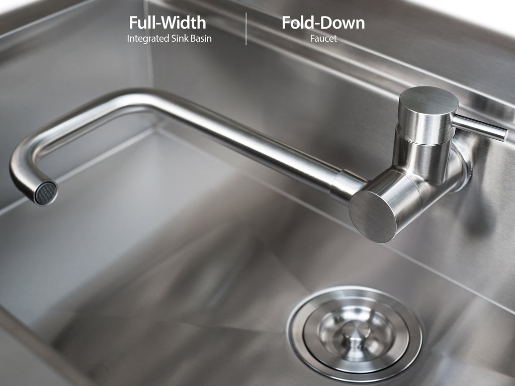 Newage products 32w x 24d outdoor kitchen sink cabinet in expand image workwithnaturefo