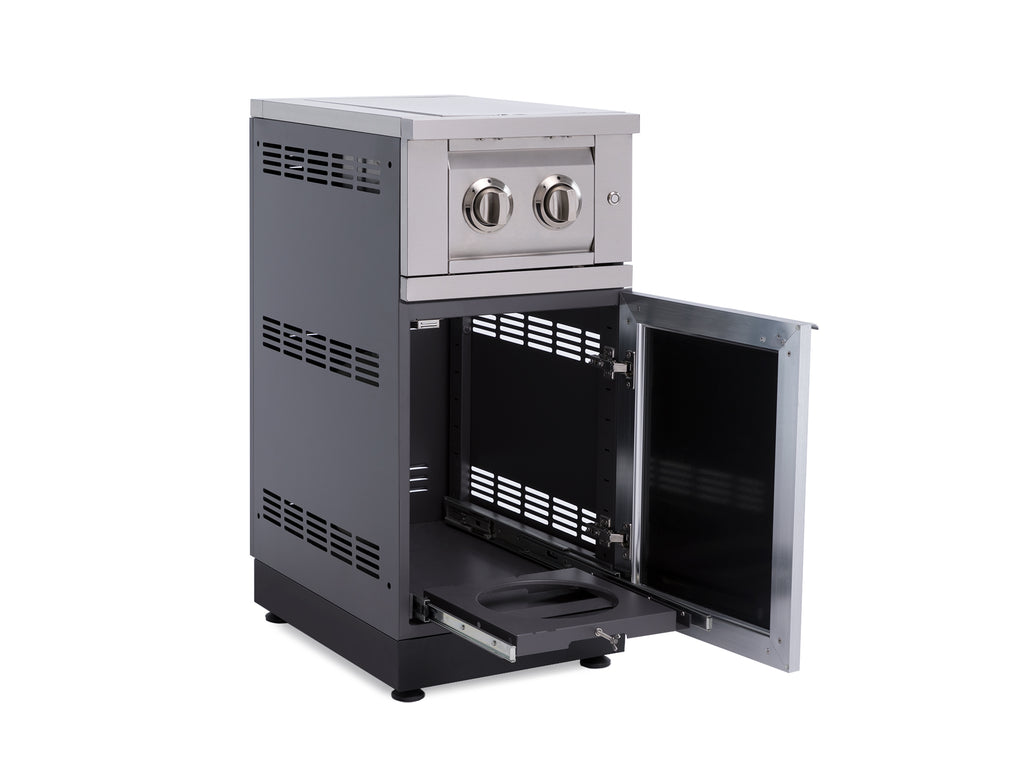 Outdoor Kitchen Aluminum 16 Cabinet With Dual Side Burner Newage