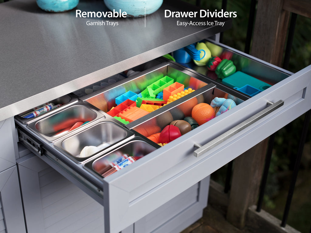 Outdoor Kitchen Aluminum Drawer Dividers