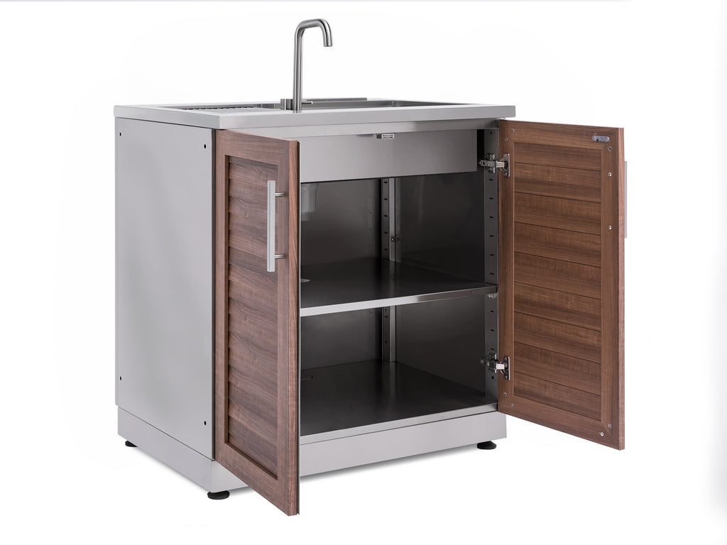Outdoor Kitchen Sink Cabinet In Stainless Steel And Grove Newage Products