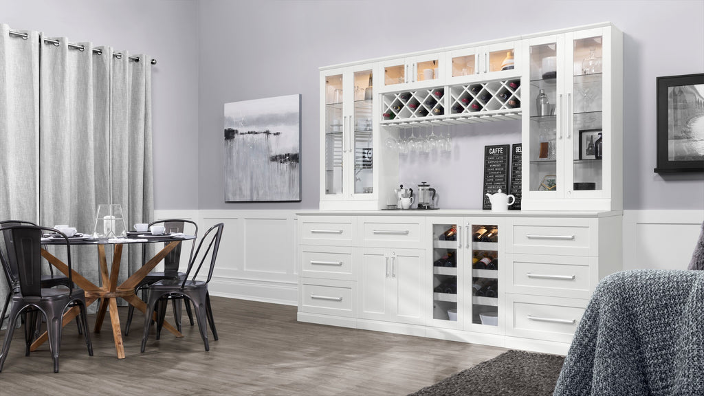 NewAge Products Home Bar Wall Wine Rack Cabinet 60000