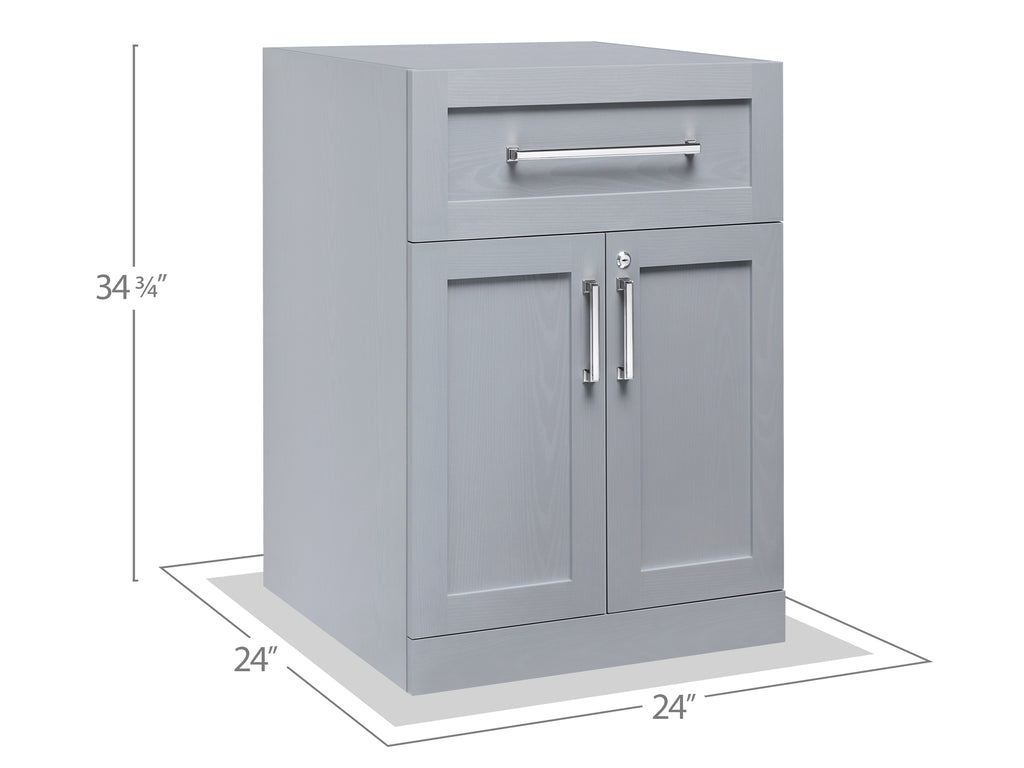 24 inch/ 24 inch Home Bar 2-Door with Drawer Cabinet