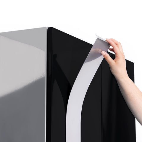 Black Doors with Bamboo Top / None