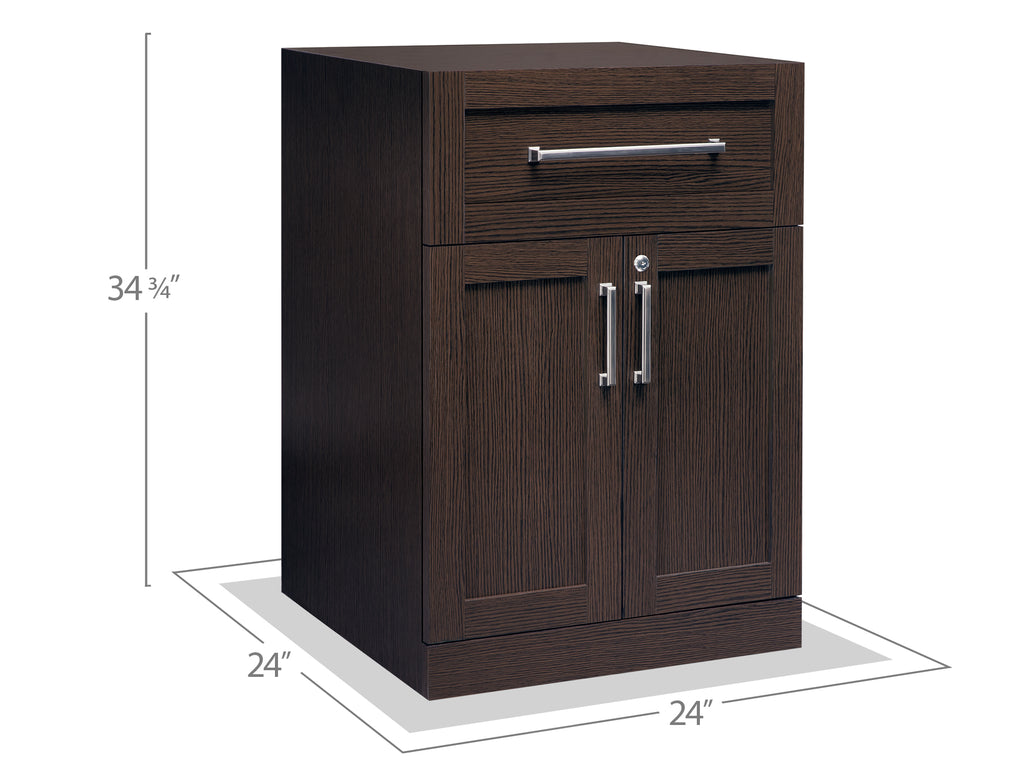 24 inch/ 24 inch Espresso Home Bar 2-Door with Drawer Cabinet
