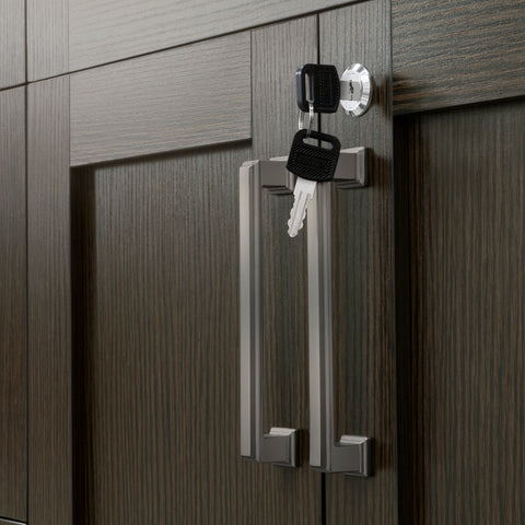 Espresso 2-Door with Drawer Home Bar Cabinet Locker