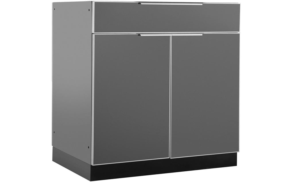 Slate Gray Outdoor Kitchen Aluminum Bar Cabinet