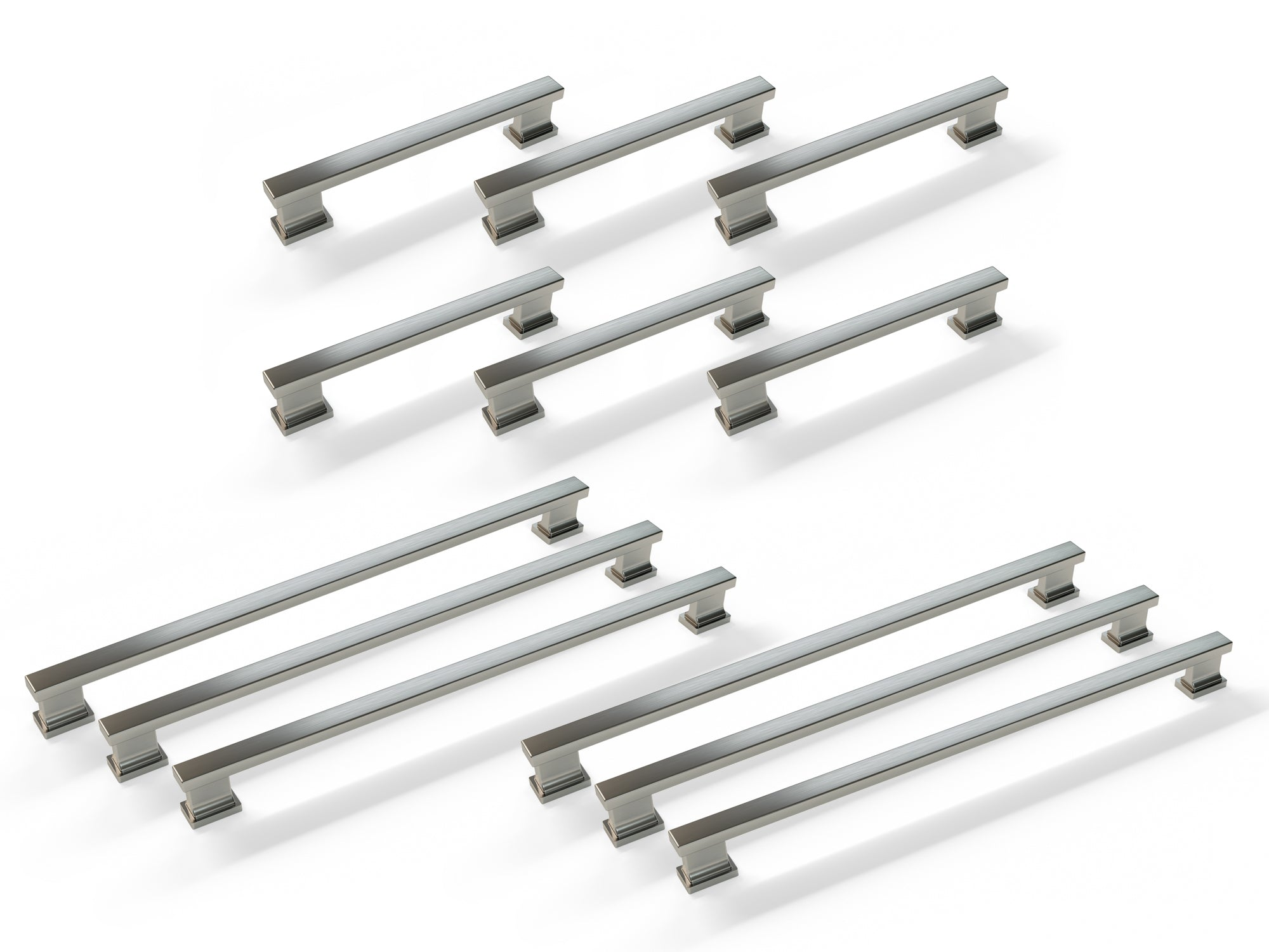 Contemporary Style Handle Pack (6 x Small Handle, 6 x Large Handle)