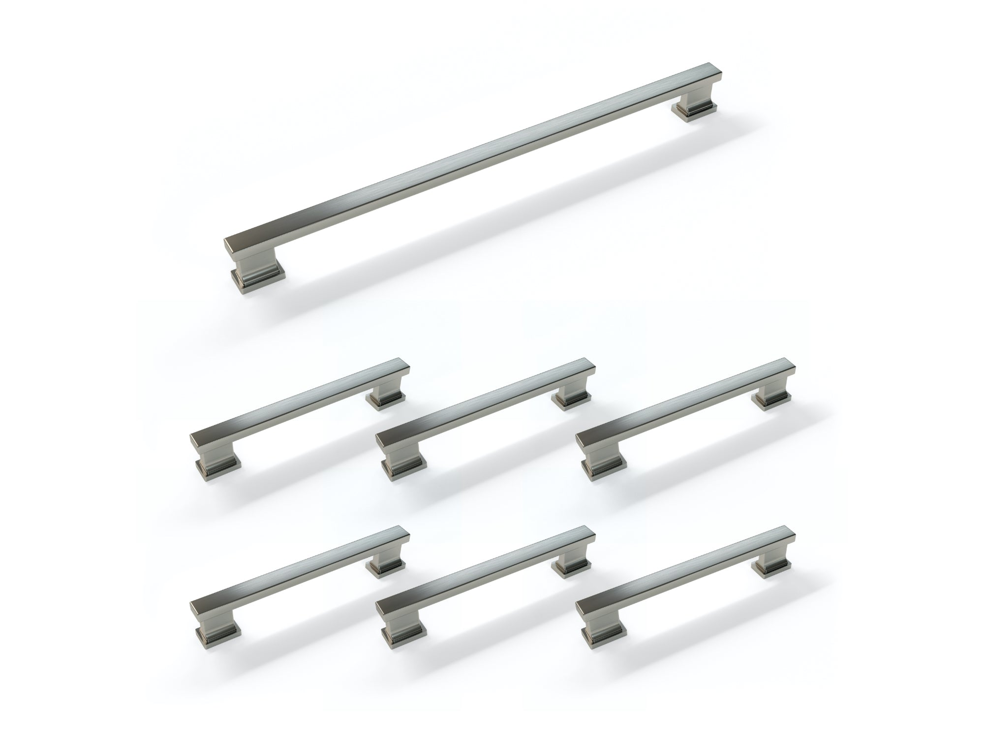 Contemporary Style Handle Pack (6 x Small Handle, 1 x Large Handle)