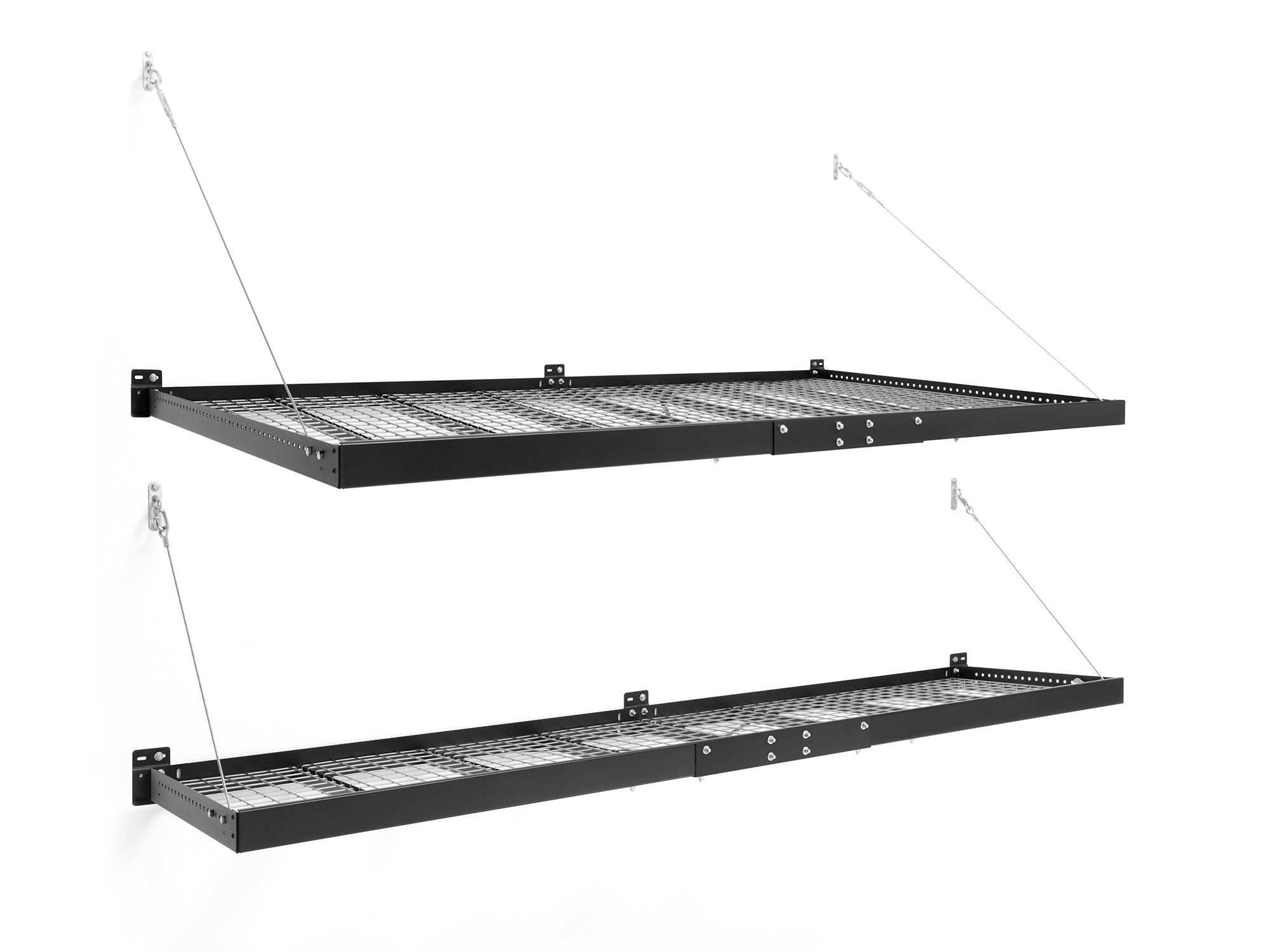Pro Series 4 ft. x 8 ft. and 2 ft. x 8 ft. Wall Mounted Steel Shelf Set