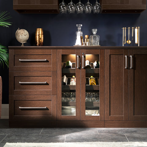 Home Bar 7 Piece Cabinet Set - 21""