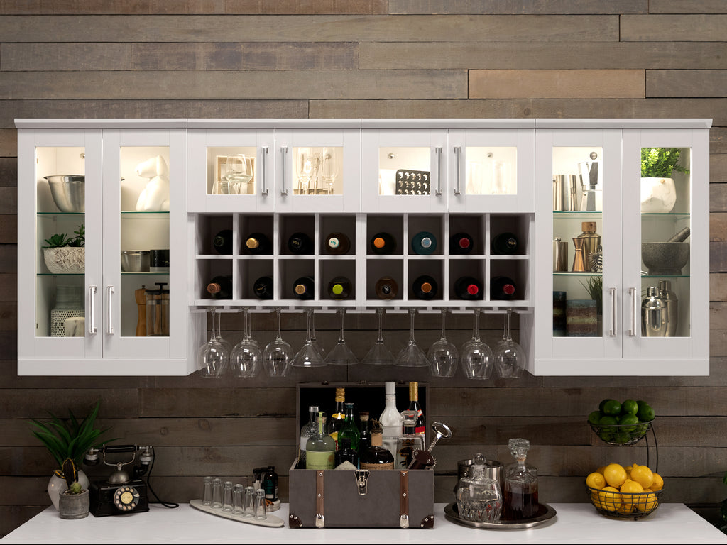 Home Bar 9 Piece Cabinet Set - 21""