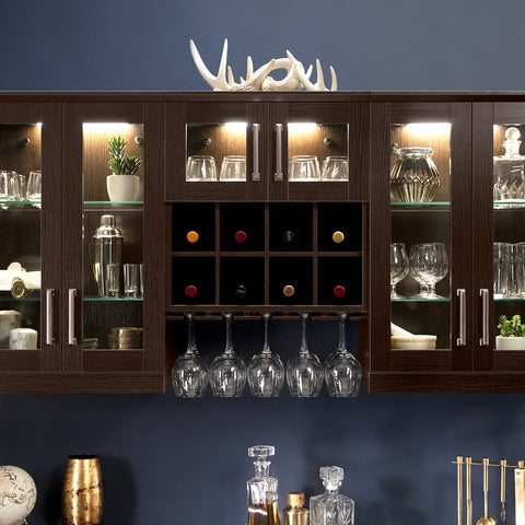 Home Bar 4 Piece Cabinet Set - 21""