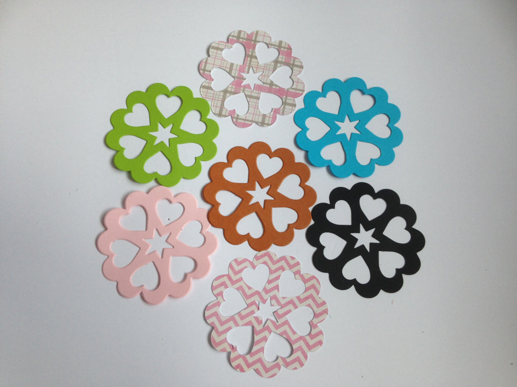 DIY - Set 6 paper hearts ( 60 each)