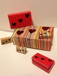 Set of 6 Heart boxes