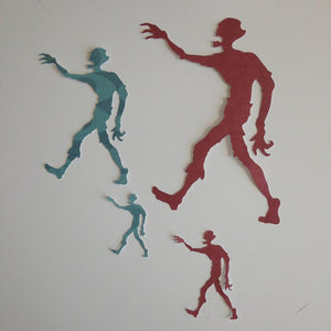 40 Die cut Zombie ( 10 each)