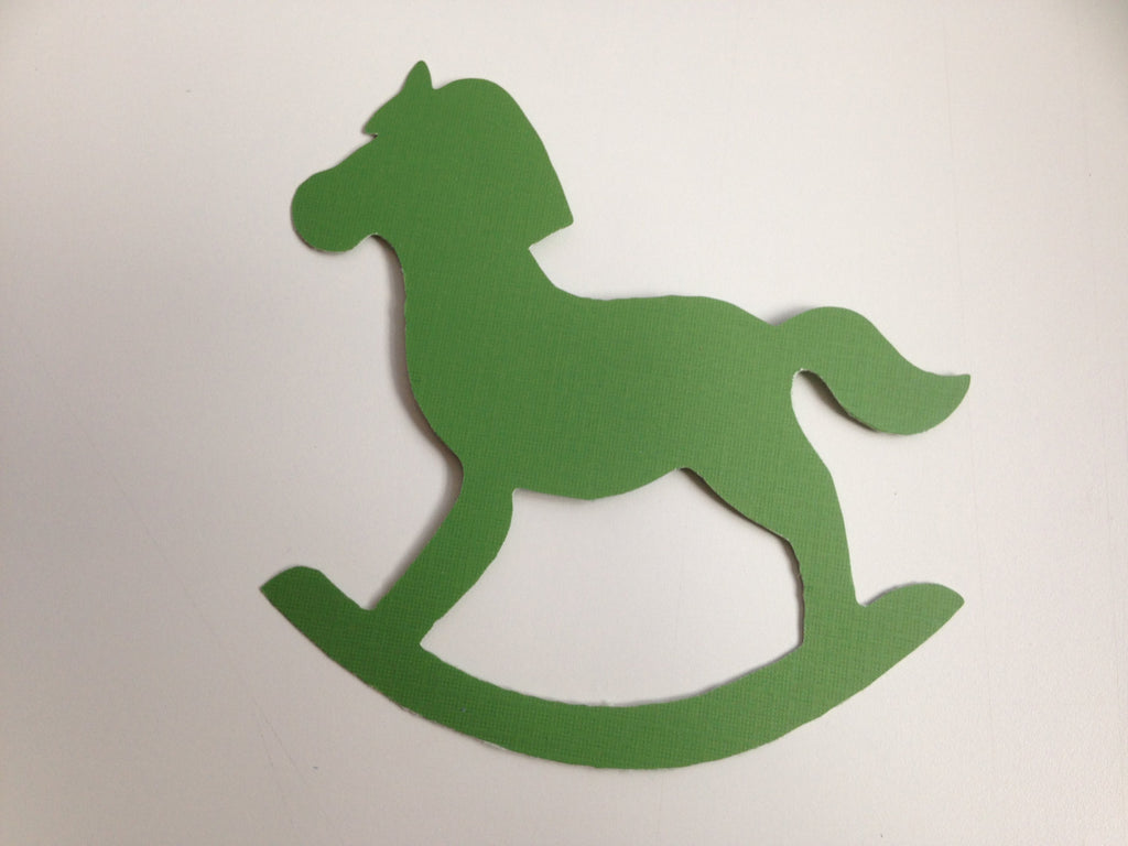 60 Die cut wood horse kids ( paper) (3 sizes)