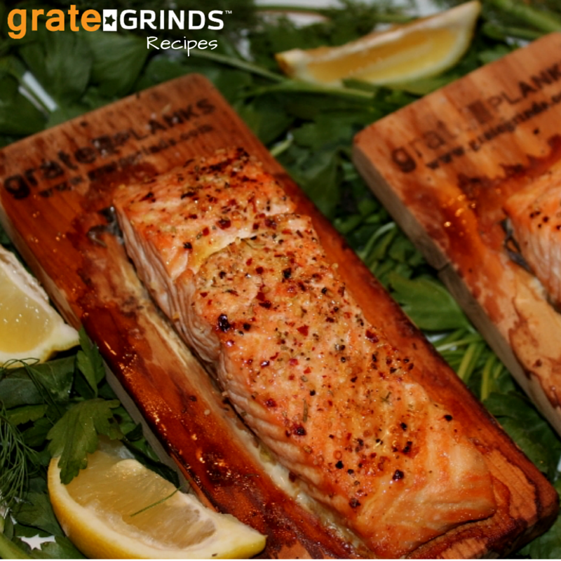 Cook with Grate Grinds Cedar Plank Seafood Seasoning