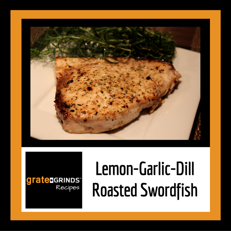 Lemon-Garlic-Dill Roasted Swordfish