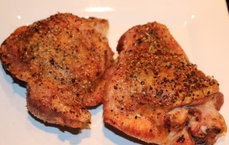 Oven roasted turkey thighs
