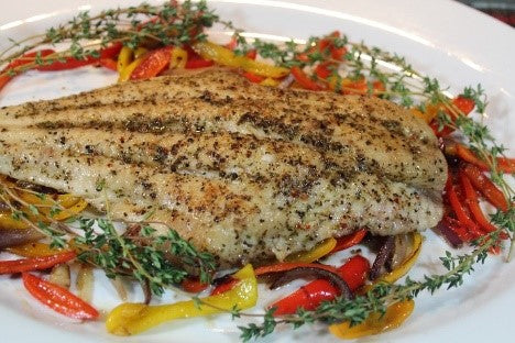Pan fried Catfish with Creole Seasoning.