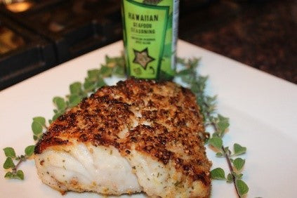 Roasted Grouper with Hawaiian Seafood Seasoning.