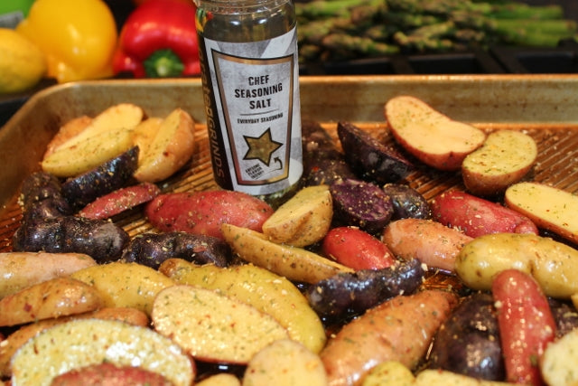 Chef Seasoning Salt on Fingerling Potatoes