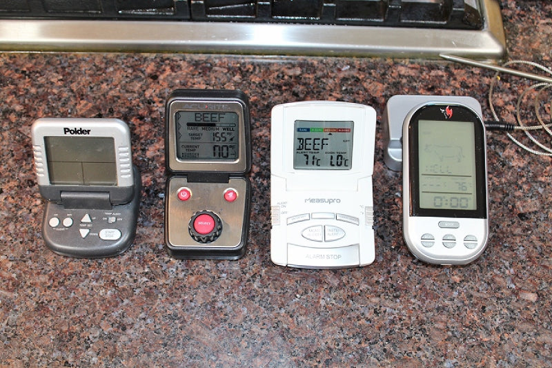 Variety of remote cooking thermometers