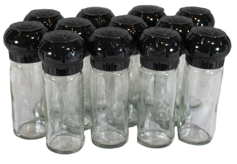 4 oz Glass Spice Bottle with Plastic Grinder Tops