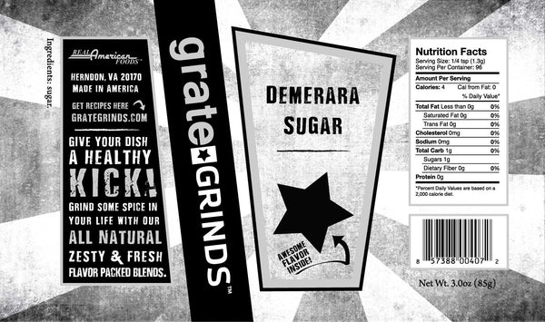 Demerara Sugar - 3.0 oz.