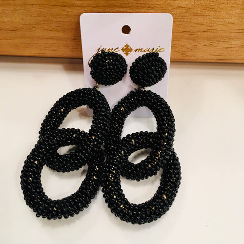 The Black Licorice Earrings
