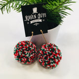 The Huge Christmas Pom Earrings