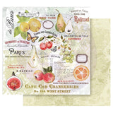 Prima Marketing - Fruit Paradise (6) Double-Sided Papers (Vintage, Fruit, Flowers)