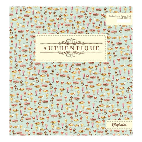 Authentique - Confection 12x12 Paper Pad (Dessert, Ice Cream, Chocolate)