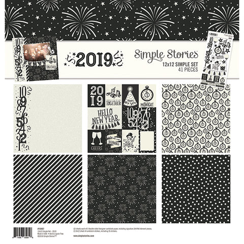 Simple Stories - 2019 New Year 12x12 Simple Set, 41 Pieces