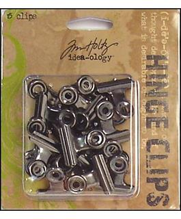 Tim Holtz idea-ology Hinge Clips, 15 pieces