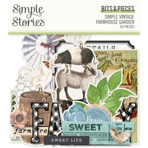 Simple Stories - Vintage Farmhouse Garden Bits and Pieces