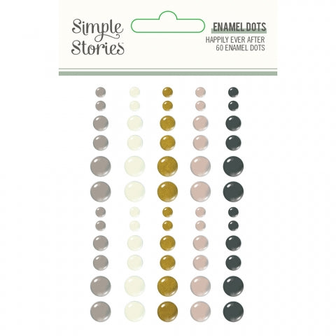 Simple Stories - Happily Ever After Enamel Dots (Wedding)