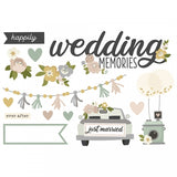 Simple Stories - Happily Ever After Page Pieces Wedding Memories