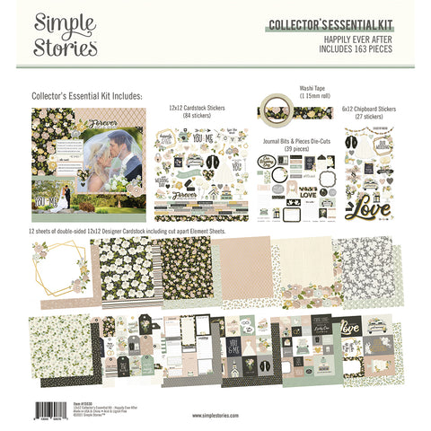 Simple Stories - Happily Ever After 12x12 Collectors Essential Kit (Wedding)