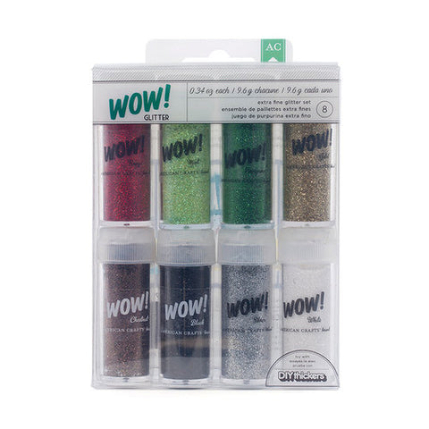 American Crafts 8-Pack .34 oz. WOW Extra Fine Glitter, SAVE 55% #27387
