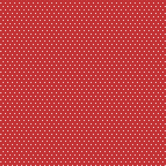American Crafts 12x12 Core Red/White Dots