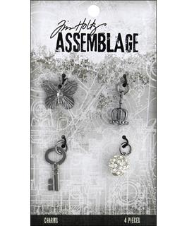 Tim Holtz Assemblage Monarch Charms, 4 pieces