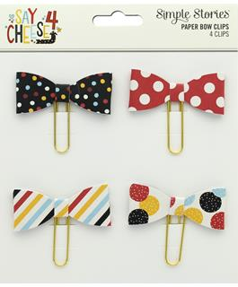 Simple Stories - Paper Bow Clips, 4 pieces - Say Cheese 4