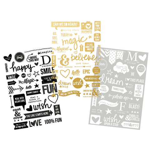 Simple Stories - Say Cheese II Photo Stickers (Disney), 3 4x6 Sheets